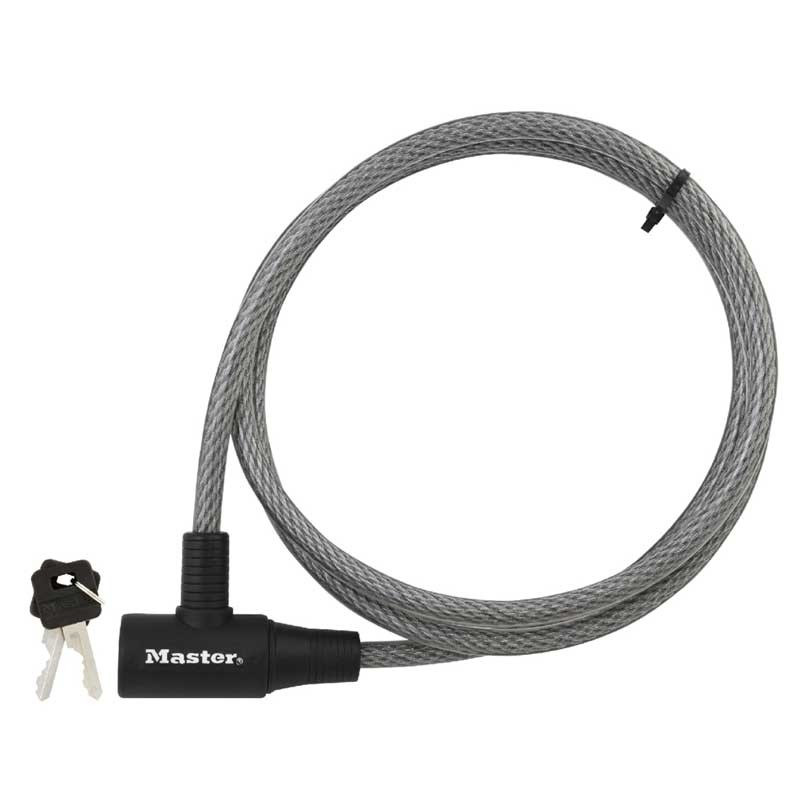 Master 8154DPF Keyed Cable Lock 3/8in x 6ft