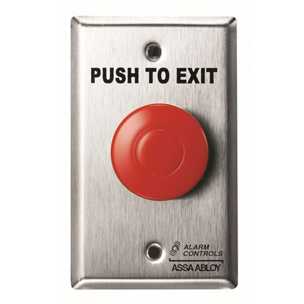Alarm Controls TS-14R Request to Exit Station Red
